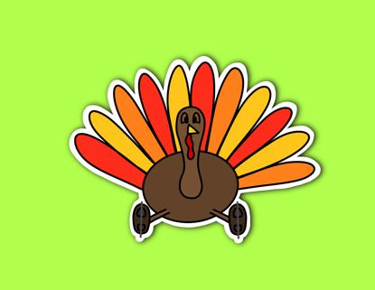 Picture of Turkey Sticker