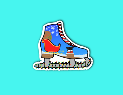Picture of Christmas Skate Sticker