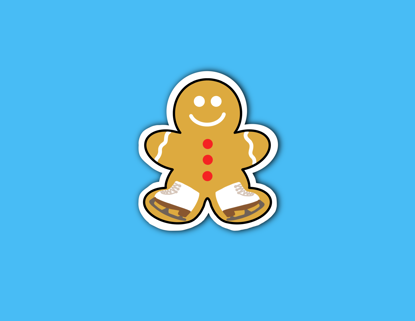 Picture of Frosted Gingerbread Man Sticker