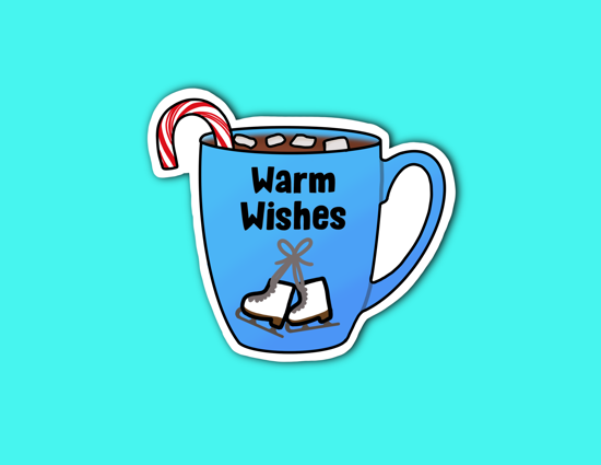 Picture of Warm Wishes Hot Cocoa Sticker