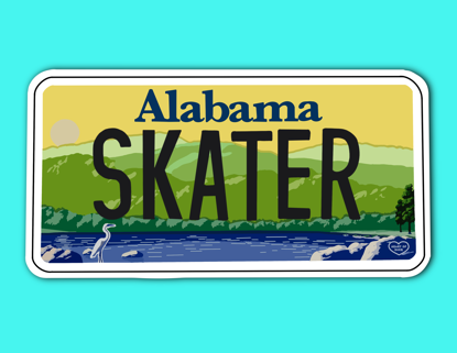 Picture of Alabama License Plate Sticker