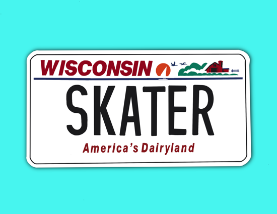 Picture of Wisconsin License Plate Sticker