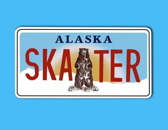 Picture of Alaska License Plate Sticker