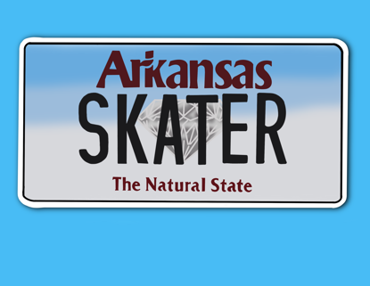 Picture of Arkansas License Plate Sticker