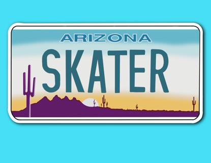 Picture of Arizona License Plate Sticker