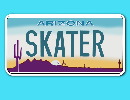 Picture of Arizona License Plate Sticker