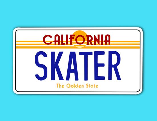 Picture of California License Plate Sticker