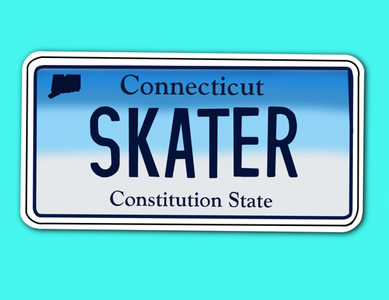 Picture of Connecticut License Plate Sticker