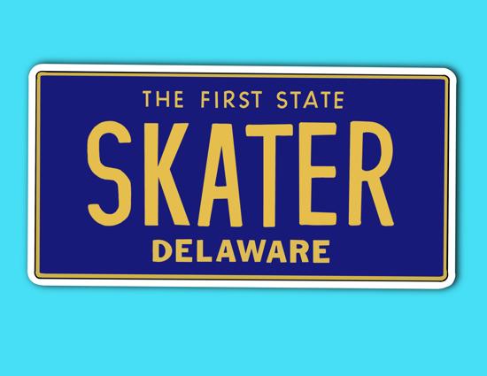 Picture of Delaware License Plate Sticker