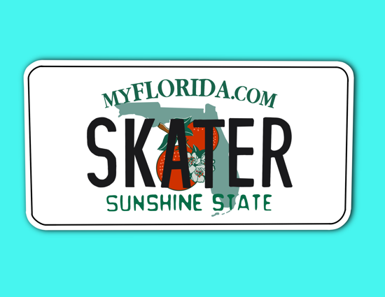 Picture of Florida License Plate Sticker