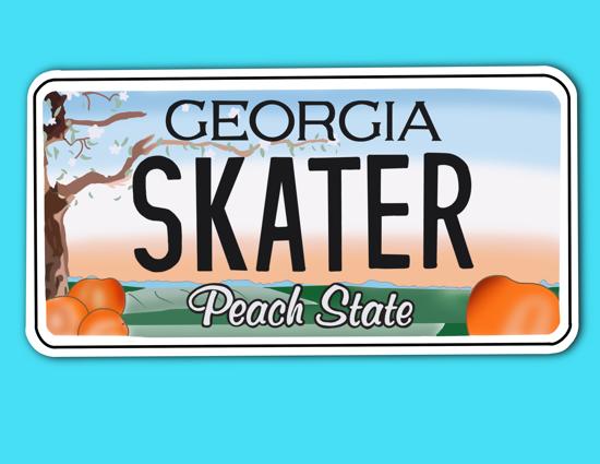 Picture of Georgia License Plate Sticker