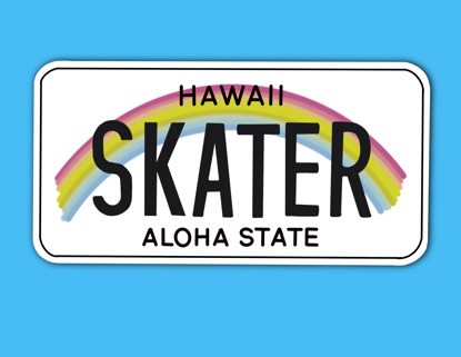 Picture of Hawaii License Plate Sticker
