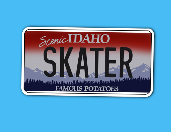 Picture of Idaho License Plate Sticker