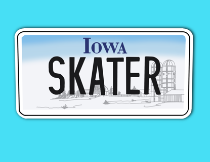 Picture of Iowa License Plate Sticker