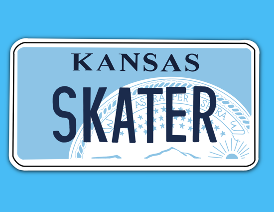 Picture of Kansas License Plate Sticker