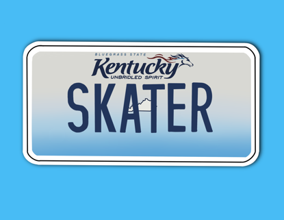 Picture of Kentucky License Plate Sticker