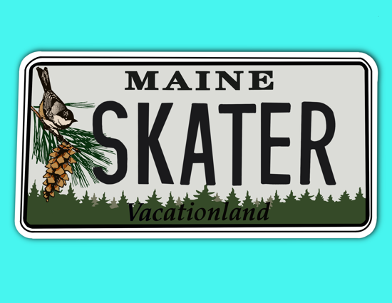 Picture of Maine License Plate Sticker