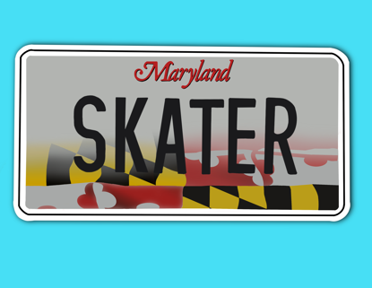 Picture of Maryland License Plate Sticker