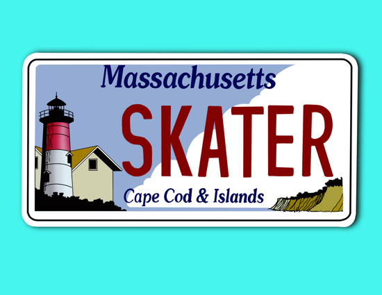 Picture of Massachusetts License Plate Sticker