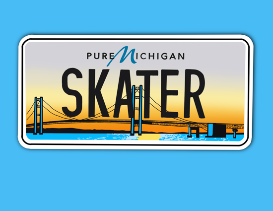 Picture of Michigan License Plate Sticker