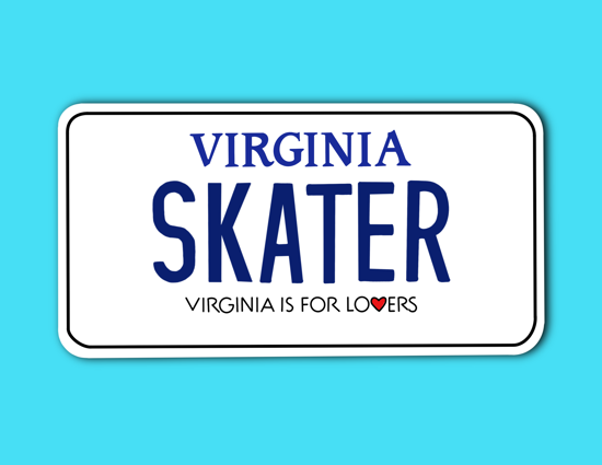 Picture of Virginia License Plate Sticker