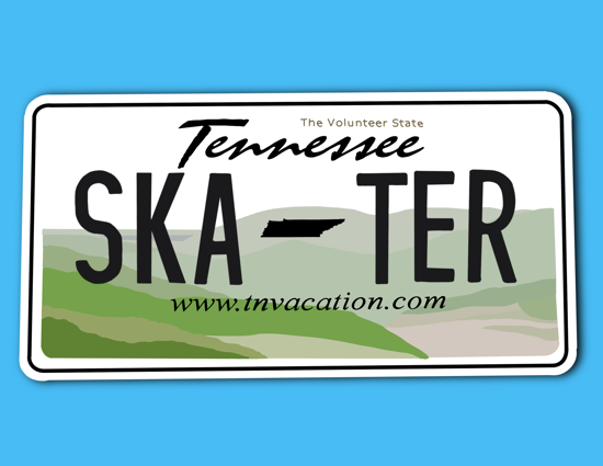 Picture of Tennessee License Plate Sticker