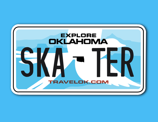 Picture of Oklahoma License Plate Sticker