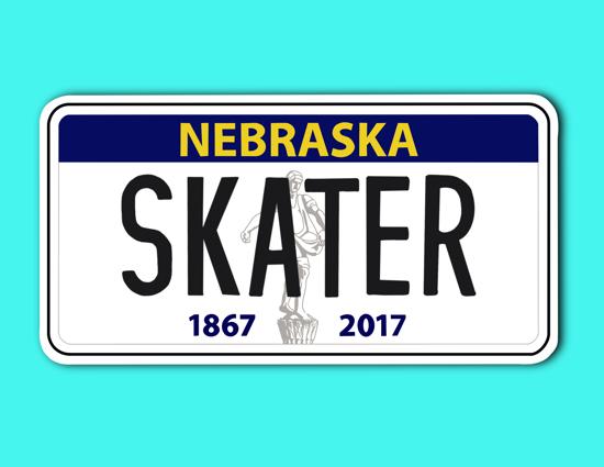 Picture of Nebraska License Plate Sticker