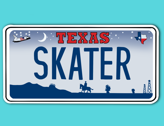 Picture of Texas License Plate Sticker