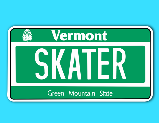 Picture of Vermont License Plate Sticker
