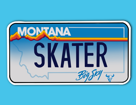 Picture of Montana License Plate Sticker