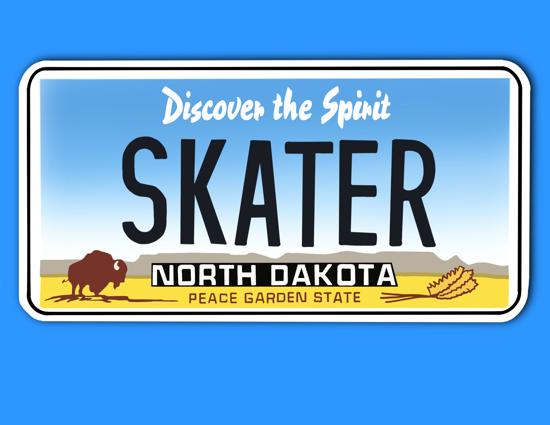 Picture of North Dakota License Plate Sticker