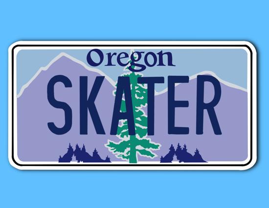 Picture of Oregon License Plate Sticker