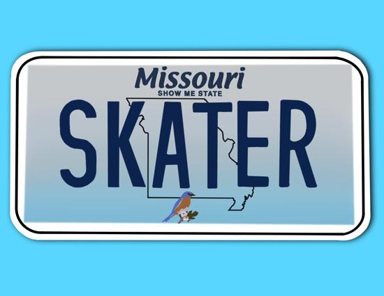 Picture of Missouri License Plate Sticker
