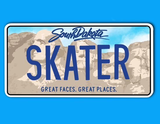 Picture of South Dakota License Plate Sticker