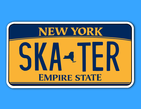 Picture of New York License Plate Sticker