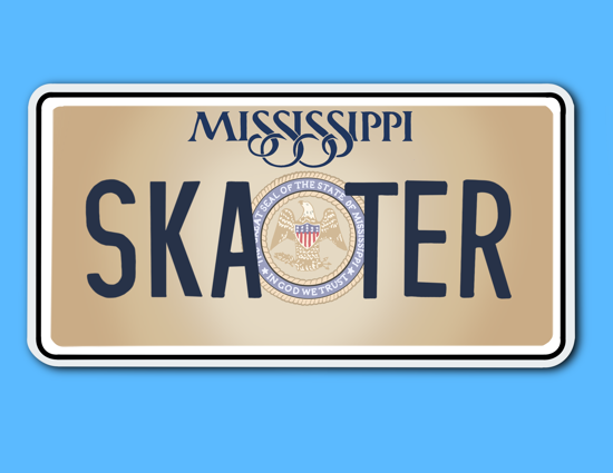 Picture of Mississippi License Plate Sticker