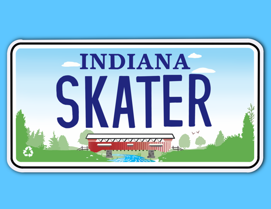 Picture of Indiana License Plate Sticker