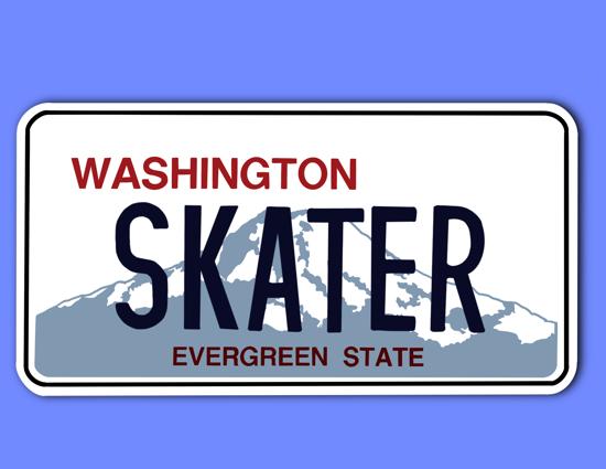 Picture of Washington License Plate Sticker