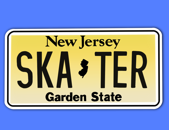 Picture of New Jersey License Plate Sticker