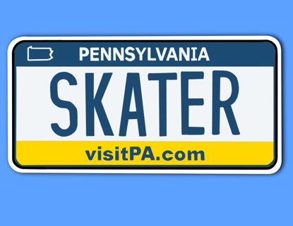 Picture of Pennsylvania License Plate Sticker