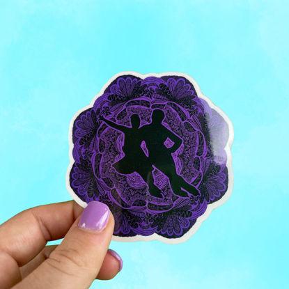 Picture of Ice Dance Figure Skating Mandala Sticker