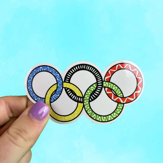 Picture of Olympic Rings Sticker