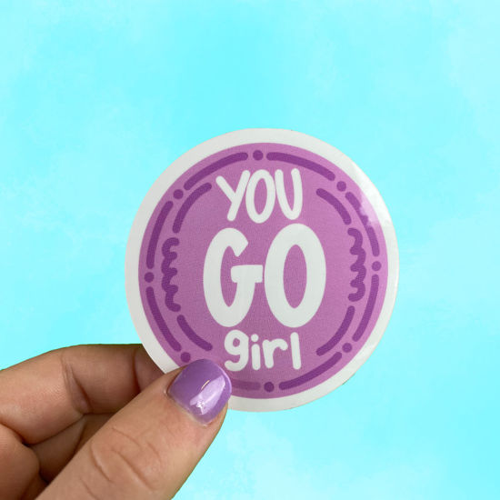 Picture of You Go Girl Sticker