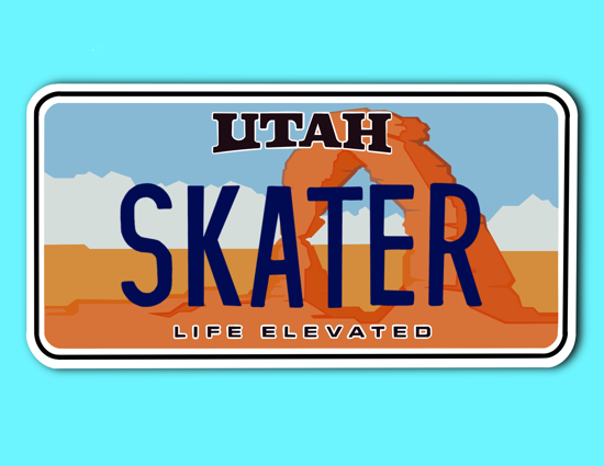 Picture of Utah License Plate Sticker