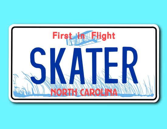 Picture of North Carolina License Plate Sticker