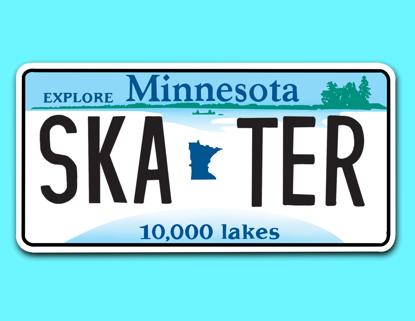 Picture of Minnesota License Plate Sticker