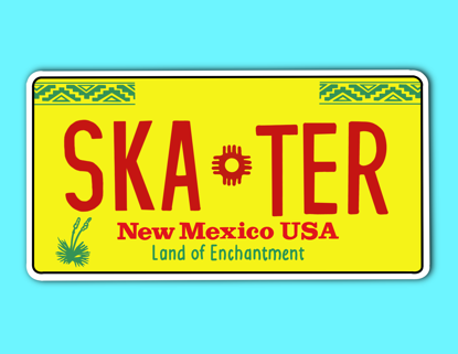 Picture of New Mexico License Plate Sticker