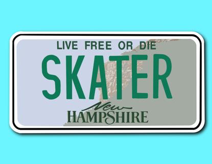 Picture of New Hampshire License Plate Sticker