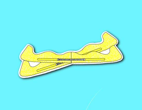 Picture of Yellow Skate Guards Sticker *PRE-ORDER*
